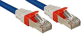 Cavo di Rete Patch Cat.6(A) SSTP - S/FTP PIMF 10 GBit privo di alogeni, blu, 0,
