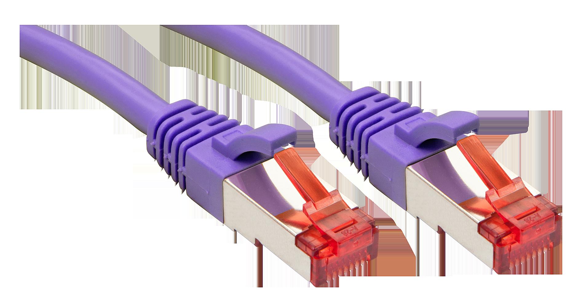 Cavo di rete S/FTP Cat.6, Viola 1.5m